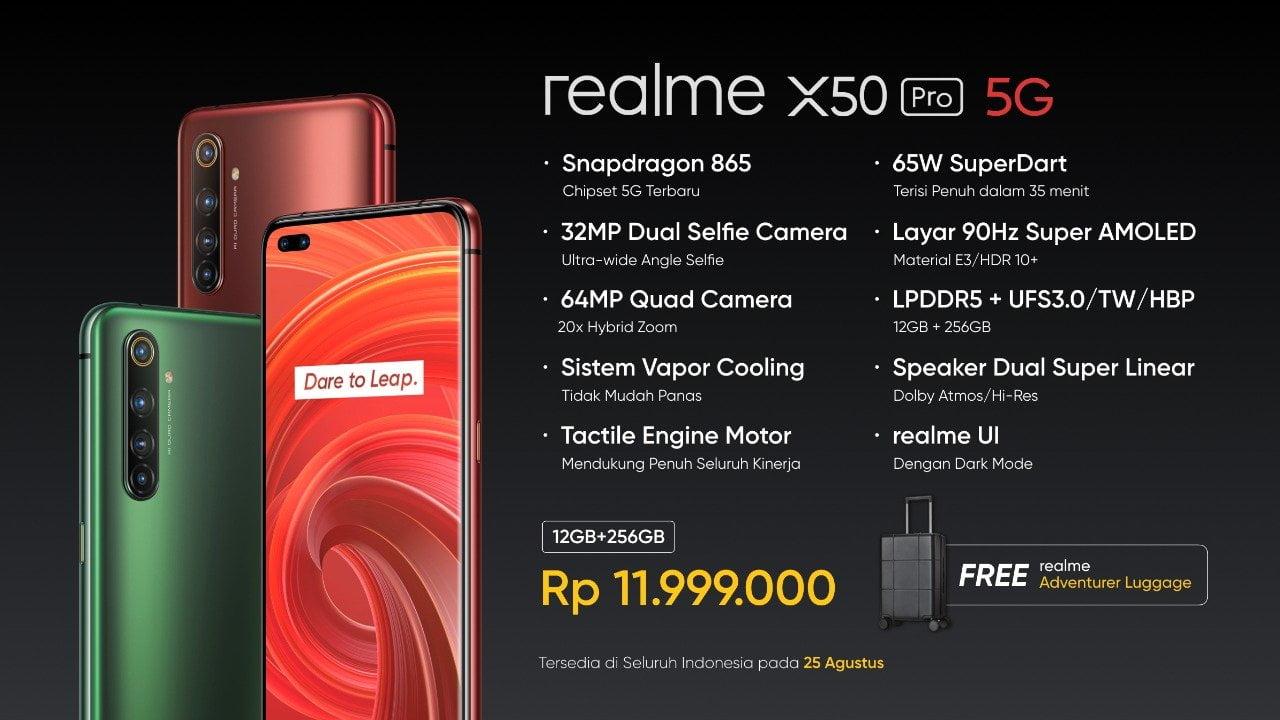 Yuk ! Cek Spesifikasi dan Harga Hp Realme X50 Pro 5G yang ...